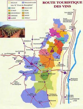 Route vignoble beaujolais